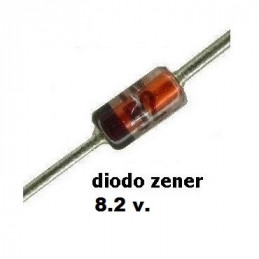 DIODO ZENER 1N-4736A   6.8 V.  1.00 WATT  DO-41