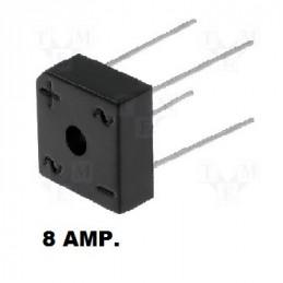 PUENTE RECTIFICADOR 1000.0 V.  6.0 AMP. KBPC-610