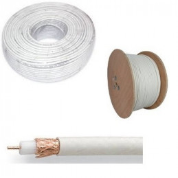 CABLE COAXIAL  RG-6  BLANCO...